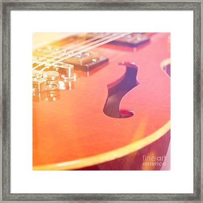 Vintage Guitar Framed Print by Andreas Berheide