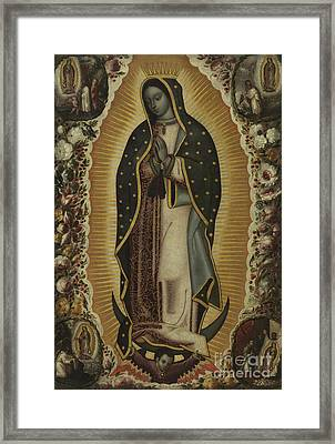 Virgin Of Guadalupe Framed Print by Manuel de Arellano