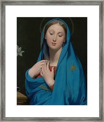 Virgin Of The Adoption Framed Print by Jean-Auguste-Dominique Ingres