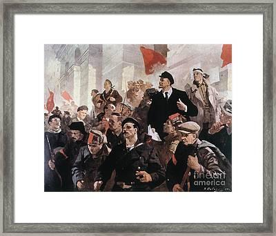 Vladimir Lenin (1870-1924) Framed Print by Granger