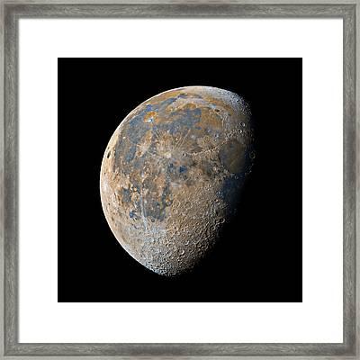 Waning Gibbous Moon / Day 20 Framed Print