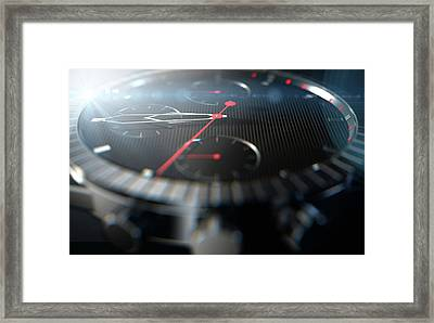 Watch Closeups Framed Print by Allan Swart