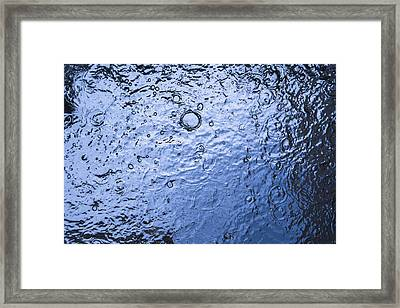 Water Abstraction - Blue Framed Print