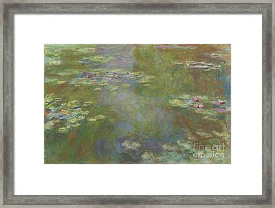 Water Lily Pond Framed Print by Claude Monet