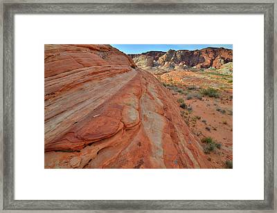 Framed Print featuring the photograph Wave Of Color In Valley Of Fire by Ray Mathis