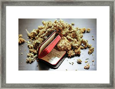 Weed Is My Religion Framed Print