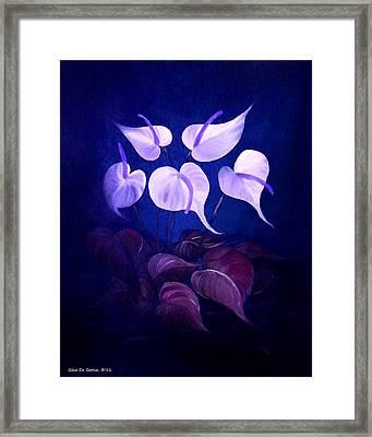 White Promises Framed Print by Gina De Gorna