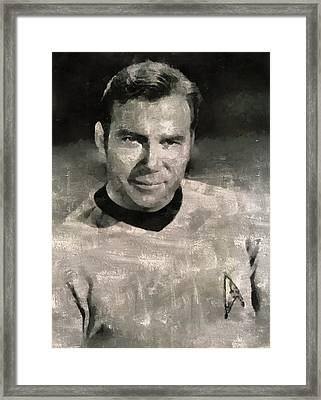 William Shatner Star Trek's Captain Kirk Framed Print