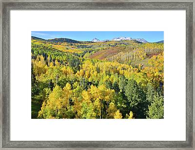 Framed Print featuring the photograph Wilson Mesa by Ray Mathis