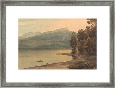 Windermere At Sunset Framed Print by Francis Towne