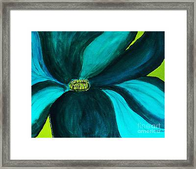 Windmill Flower Framed Print