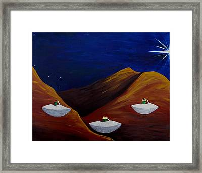 3 Wise Guys Framed Print by Lola Connelly