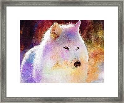 Wolf Framed Print by Elena Kosvincheva