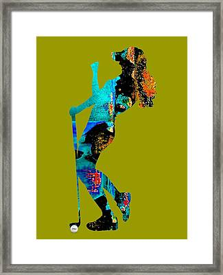 Womens Golf Collection Framed Print by Marvin Blaine