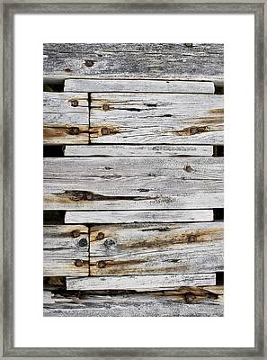 Wood Panels Framed Print by Tom Gowanlock