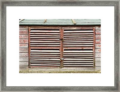 Wooden Doors Framed Print