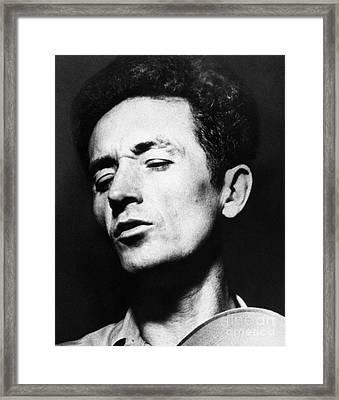 Woody Guthrie (1912-1967) Framed Print