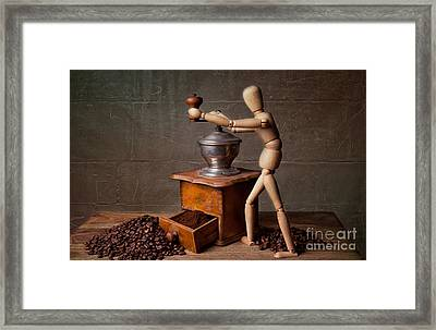 Working The Mill Framed Print