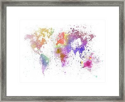 World Map Painting Framed Print by Setsiri Silapasuwanchai