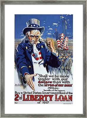 World War I: Liberty Loan Framed Print by Granger