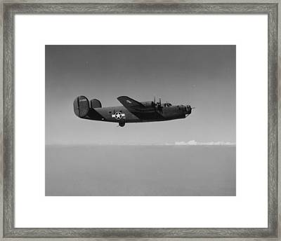 Wwii Us Aircraft In Flight Framed Print by American School