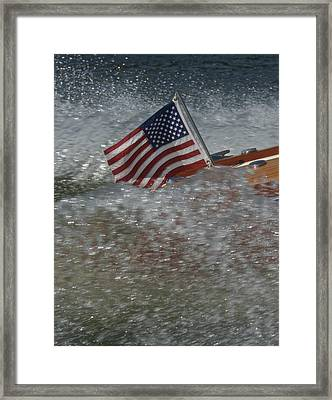 Yacht Ensign Framed Print by Steven Lapkin