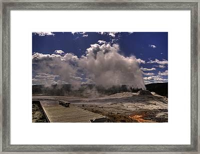 Yellowstone Sky Framed Print by Patrick  Flynn