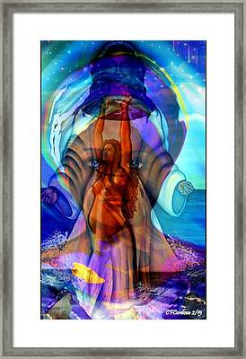 Yemaya- The Goddess Framed Print by Carmen Cordova