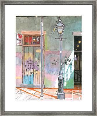 30  French Quarter Graffiti  Framed Print
