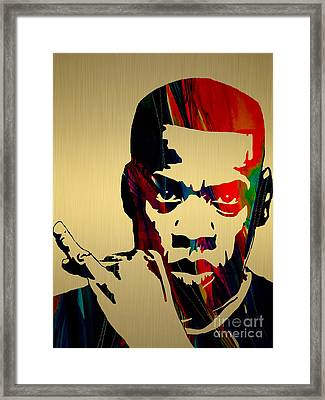 Jay Z Collection Framed Print by Marvin Blaine