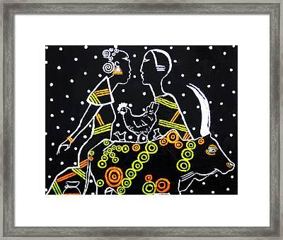 Kintu And Nambi Framed Print by Gloria Ssali