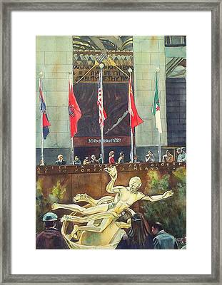 30 Rock Framed Print by June Conte  Pryor