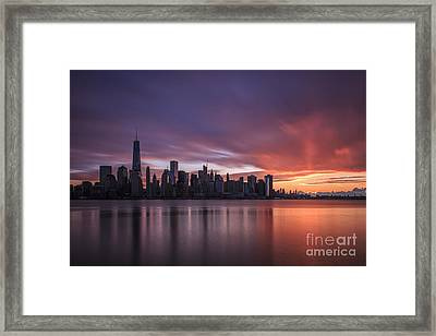 30 Seconds Before Sunrise Framed Print by Evelina Kremsdorf