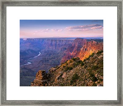 Canyon Glow Framed Print by Mikes Nature