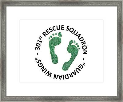 301st Rescue Squadron Framed Print by Julio Lopez