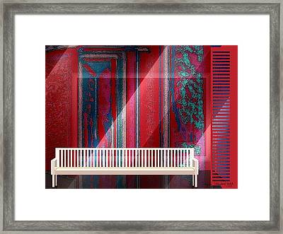304 - Still-life With Bench Framed Print by Irmgard Schoendorf Welch