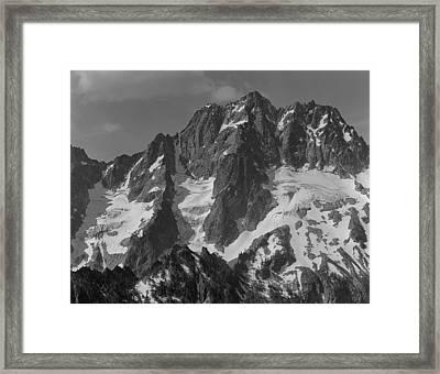 304630 Bw North Face Mt. Stuart Framed Print