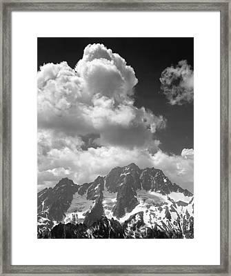 304638 Clouds Over Mt. Stuart Bw Framed Print