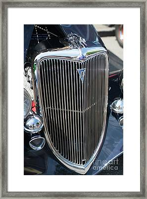 30s Vintage Ford Hotrod With Chrome Greyhound Framed Print by Mike Reid