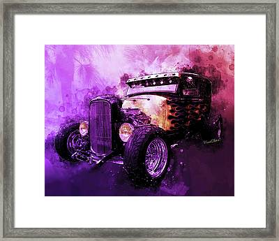 31 Ford Model A Fiery Hot Rod Classic Framed Print