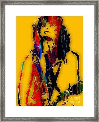 Jimmy Page Collection Framed Print by Marvin Blaine