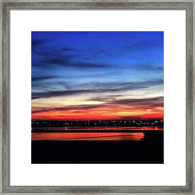 31 May 16 Colourful Sunset Framed Print