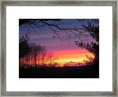 31 Oct 2012 Sunset Two Framed Print by Tina M Wenger