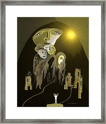 316  An Arrival Of The Gods A  Framed Print