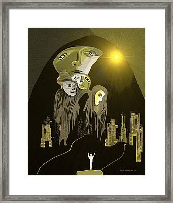 316  Arrival Of The Gods A  Framed Print
