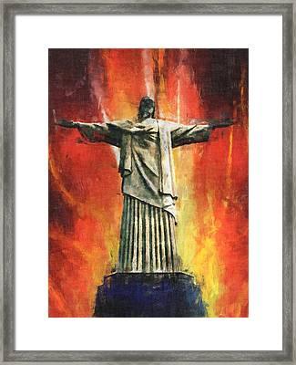 Jesus Christ - Religious Art Framed Print