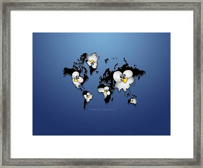31912 Computer Linux Tux Framed Print by F S