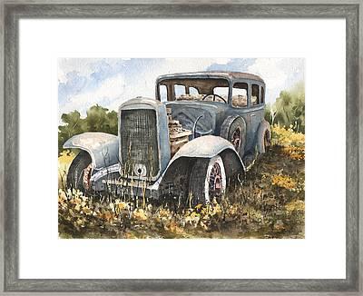 32 Buick Framed Print by Sam Sidders