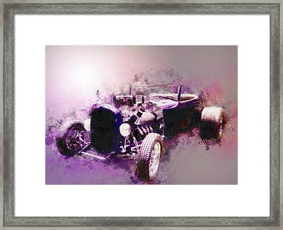 32 Ford Low Boy Roadster Watercoloured Sketch Framed Print