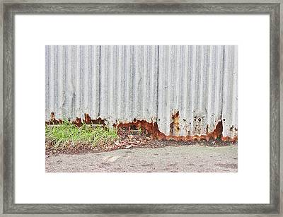 Rusty Metal Framed Print